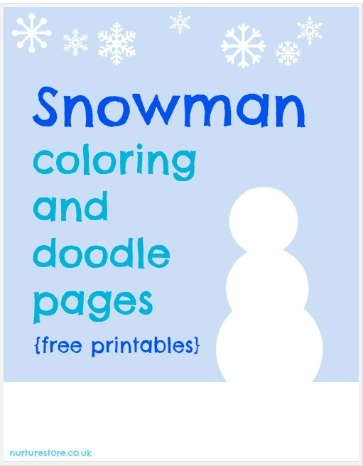 Print a snowman coloring page or 2 and design your own snowmen