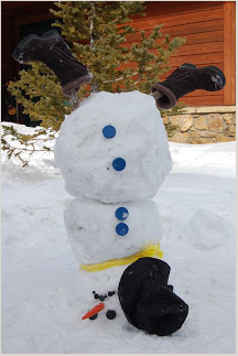 Make an upside-down snowman