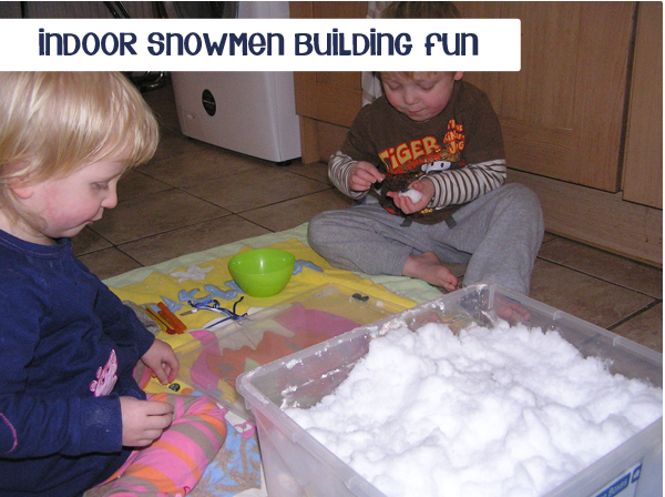 Build mini snowmen - inside!