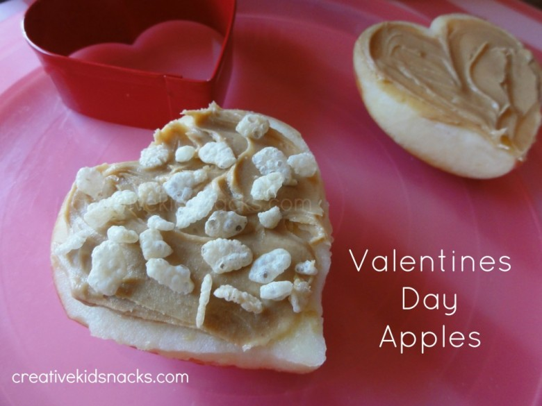 Valentines Day Apples - Sweet, healthy afternoon snack for Valentines Day