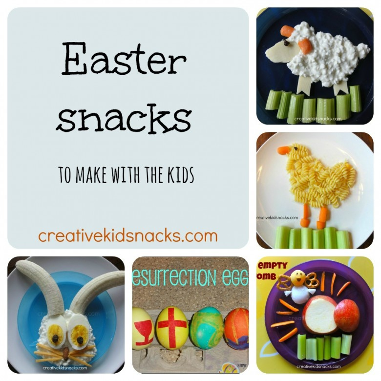 Easter Snacks to make with the kids from creativekidsnacks.com
