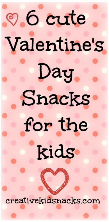 6 Cute Valentines Day Snacks for the kids. Can't tell whether the oatmeal one or the apple one is my favorite!