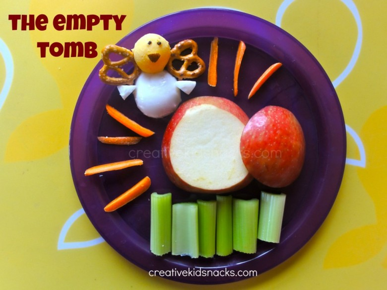 Teach the story of Jesus' resurrection and the true meaning of Easter with this snack by creativekidsnacks.com