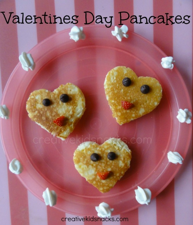 Valentines day pancakes 1