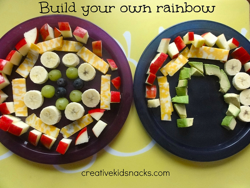 Build a Rainbow lunch.  Have the kids design their own rainbow using a variety of fruits and veggies.  Lots of ideas at creativekidsnacks.com on how to include healthy ingredients in the kids' lunches.