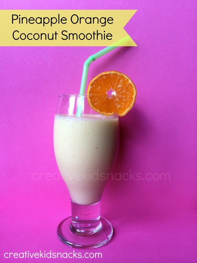 Pineapple Orange Coconut Smoothie