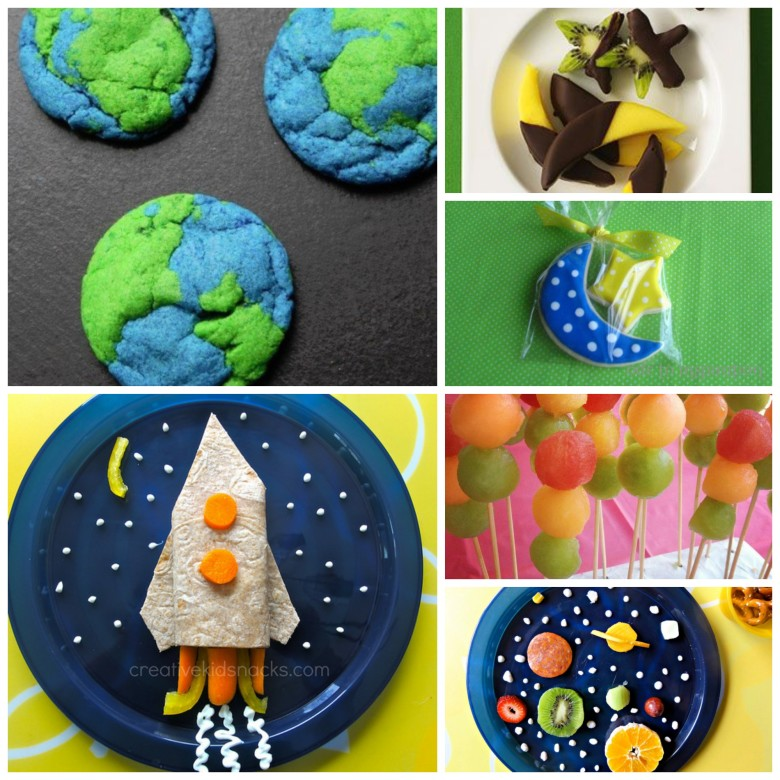 Space Themed Party Food #healthy #birthday party #menu #earth